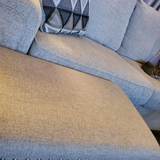 The Couch is a light cream color so wanted to show the difference