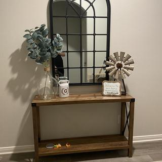 Larger vase on side entry table, LOVE IT!!