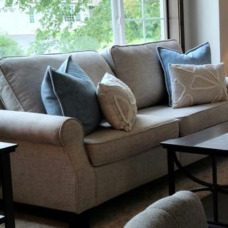 Our Ashley Sofa works beautifully for staging homes.