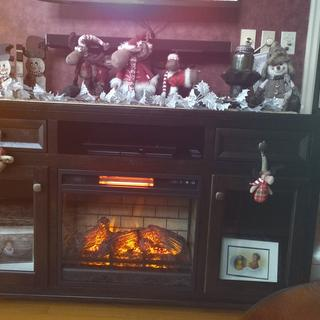 Love my new entertainment console with fireplace insert. Nice addition to our living room