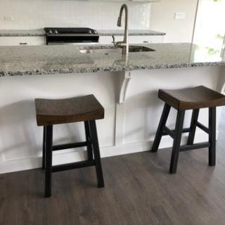 Two of four STURDY & COMFORTABLE stools =)