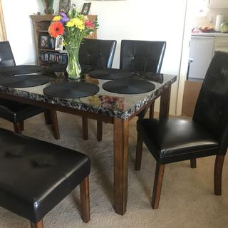 Love my new dining set! Very sturdy and comfortable!