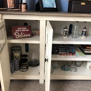 Took out shelf for taller items