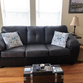 Great couch, prefect for our small condo.  Very comfortable and soft.