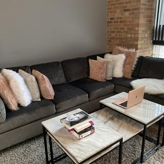 I purchased the couch and table. I absolutely love them both.