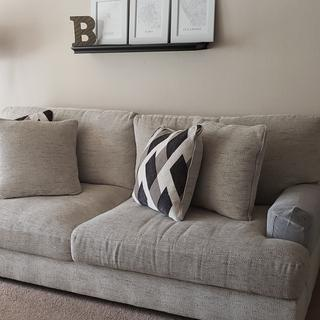 Can see the whole couch