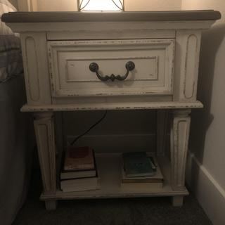 Fits perfectly & matches my bed. The original night stand for the bed was too big