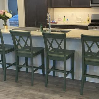 We love the stools!!! Very sturdy and comfortable.