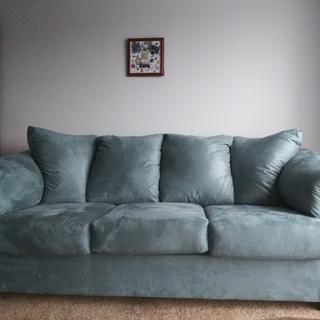 Beautiful Sky Blue Sofa!