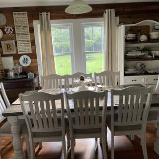 Many family meals in the making will be enjoyed gathered around this table.