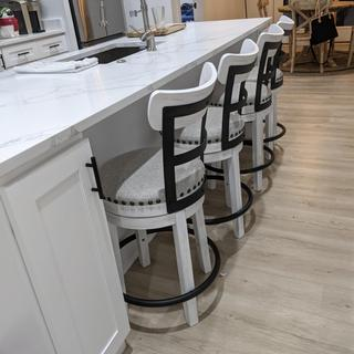 These stools are perfect! Very sturdy. You can't beat the quality especially for the price.