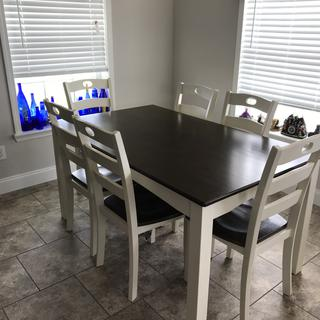The dining room set fits perfectly in the space!