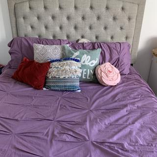 Love my new queen bed . It was easy to assemble. Glad I went with this bed!