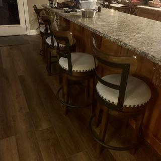 Love these counter stools!  The color is a bit more gray.