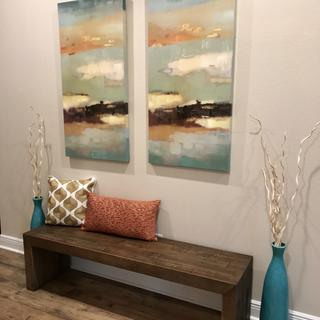 Love this bench! It makes a great entry seating area. Not too big, not too small!