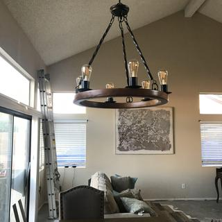 Very happy with our new chandelier