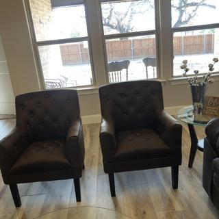 What a wonderful addition to our new home. Very please with the feel and size of these chairs.