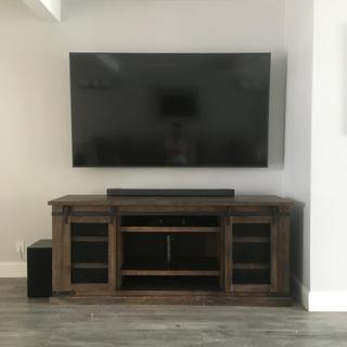 I love this tv stand so much. It's everything I have been looking for. Very satisfied.