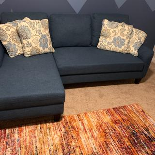 Beautiful Sofa and very nice addition to my room. The blue color is just as it is in the picture.