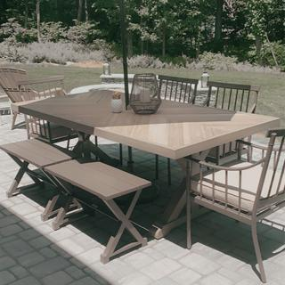 This table completes our look for our outdoor patio. Love the color and how durable it is.
