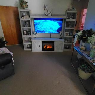 """I love my Bellaby 60"""" TV entertainment stand!"""