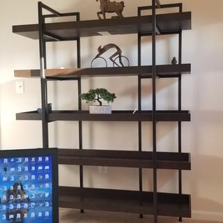Love the book shelf. Only suggestion is to not tighten the bolts until every piece is put together.
