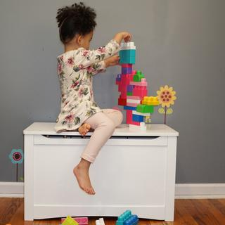 This toy box is the perfect size