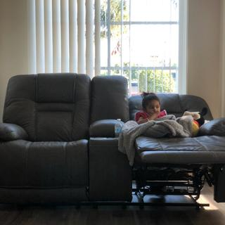 Wurstrow power reclining love seat.  My 2 year old knows how to adjust and she loves them