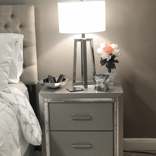 I absolutely love my Lonnix night stands. They're so glamorous and chic.