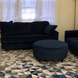 Awesome! Beautiful & comfortable. I got the matching sofa & chaise with it. Also, the carpet.