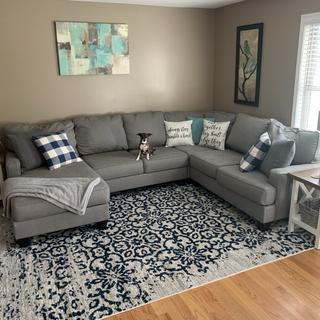 Love this rug! I got the 8x10 and it fit perfectly under our sectional.