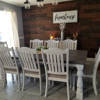 Great addition to our farmhouse style dining room.