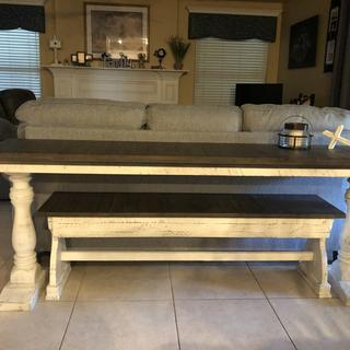 Best eating table/sofa table/grandkid table all in one! We love all the uses!!