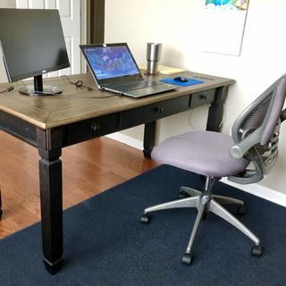 Great heirloom quality, heavy and solid desk with very smooth sliding drawers.