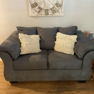 Darcy Loveseat in steel gray