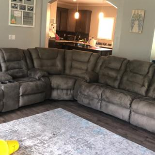 Love our new sectional- exactly what we were looking for, and got it at a great price!