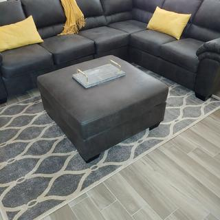 Beautiful dark grey  Couch and Ottoman