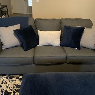 Very comfy sofa! A bit darker then expected but a great buy!