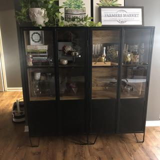 I couldn't love these cabinets more! I wanted a place to display things I love but with modern flair