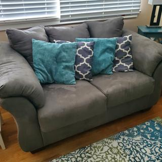 We love the Darcy Sofa & Loveseat! They are super comfortable and the material is easy maintenance