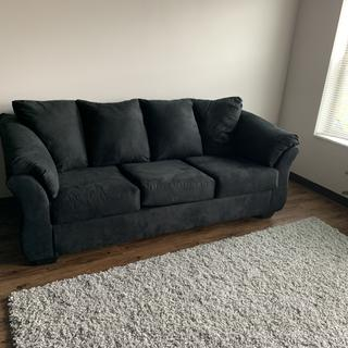 Couch is good quality for the price. Cushions were a little stiff to begin with but broke in quickly