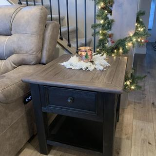 Love this end table! It fits beautifully in our home!