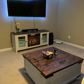 I love this entertainment center! It's sturdy, heats up nicely, and looks super cute!!!