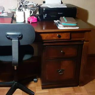 Desk and file cabinet  with chair