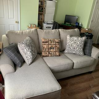 My new Kestrel Sofa Chaise in my living room.