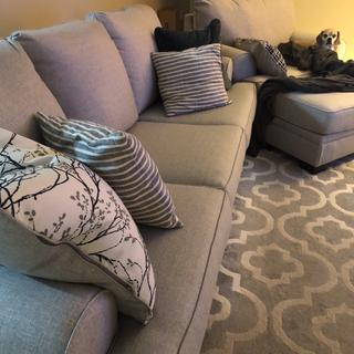 Sofa, chair, ottoman