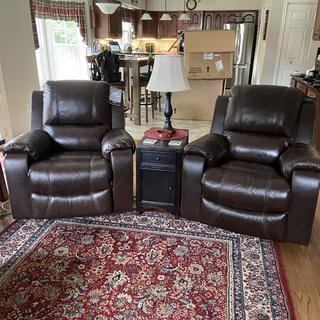 His and Her thrones! A wonderful and much loved addition to our family room!!