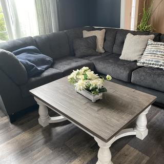 Beautiful  Love this table and goes great with the sectional I got from Ashley too!!!!