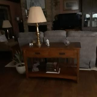 Cross Sofa Table