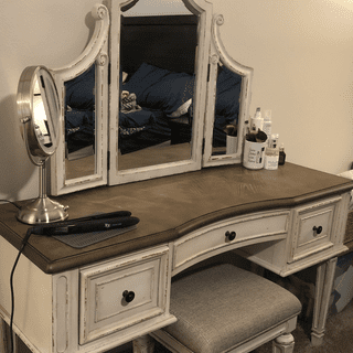 Absolutely love this vanity!!! It is big and sturdy. It is exactly what I wanted in a vanity.